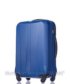 Дорожный чемодан из ABS пластика на 4-х колесах (средний) Puccini Paris  голубого цвета
