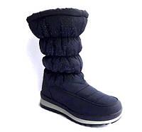 Женские сапоги дутики  зимние черные/белые/синие на замочке 0481КФМ