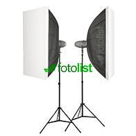 Набор студийного света Visico VL-400 Plus KIT-2-70x100, 2х400 Дж