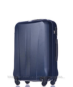 Дорожный чемодан из ABS пластика на 4-х колесах (средний) Puccini Paris  синего цвета