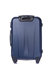 Дорожный чемодан из ABS пластика на 4-х колесах (средний) Puccini Paris  синего цвета, фото 2