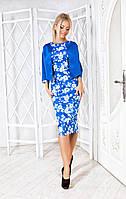 Платье с болеро синее