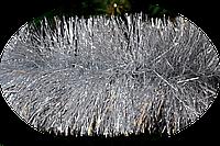 Мишура новогодняя 100 мм.Серебро 3 метра