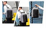 Портфель мужской против кражи Antithief Lite. Стильный мужской портфель. Мужские рюкзаки. Качественный рюкзак., фото 10