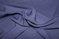 Ткань креп костюмка барби темносиняя (тонкая гляневая)