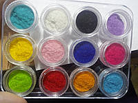 Бархат(кашемир) набор 12 шт.разных цветов