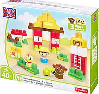 Конструктор для малышей Mega Bloks Ферма 40 деталей первое строительство First Builders DPY43
