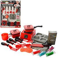 Детский игровой набор «Кухня с посудой и пластилином» 0099-3