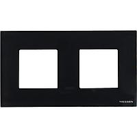 Двупостовая рамка ABB Zenit стекло черное (N2272  CN)