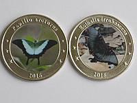 Западные Зондские острова 1 доллар 2016 БАБОЧКИ набор 2 шт, фото 1
