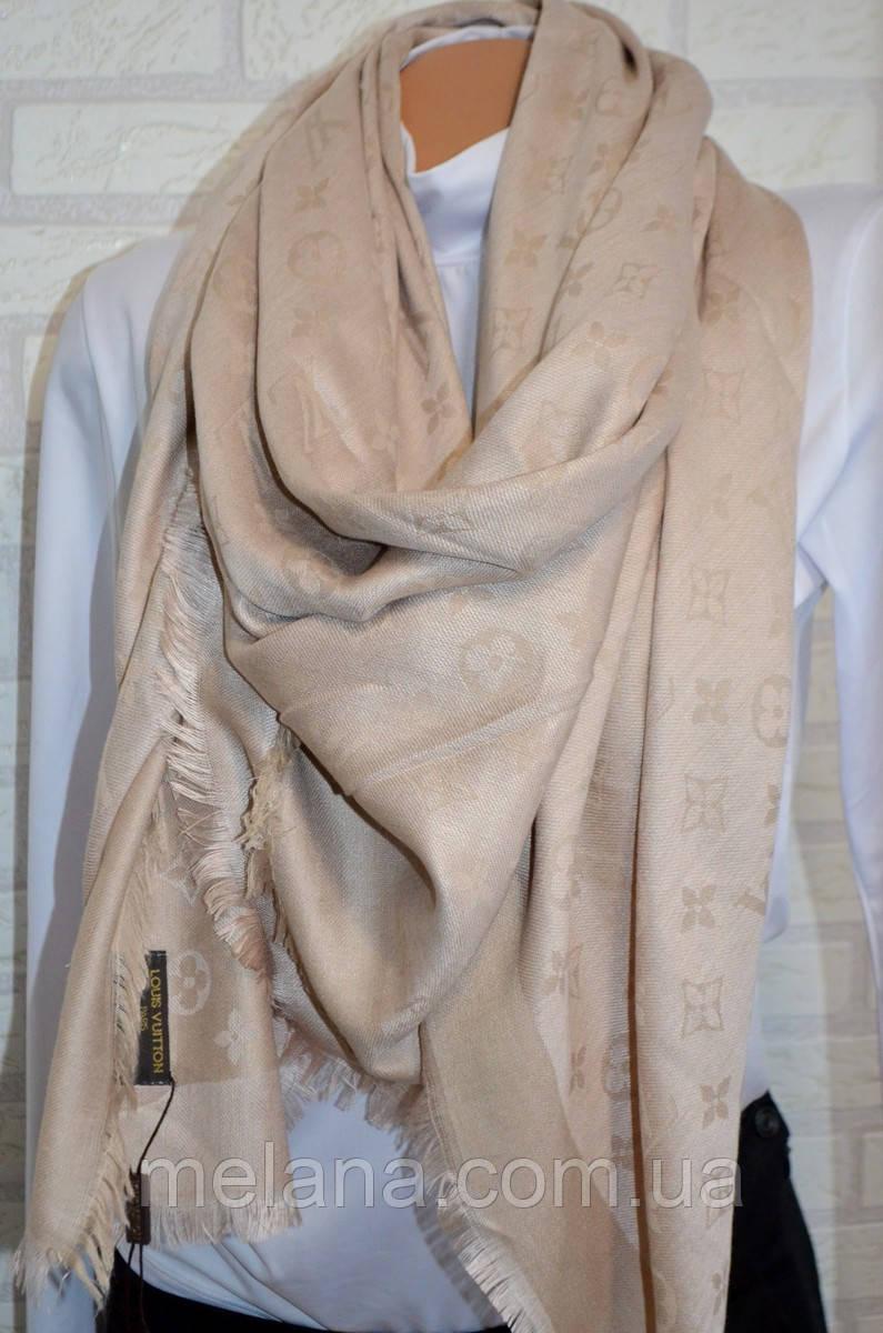 Платок женский в стиле Louis Vuitton (Луи Витон) бежевый - Интернет-магазин  женской 18fae9b6ea2