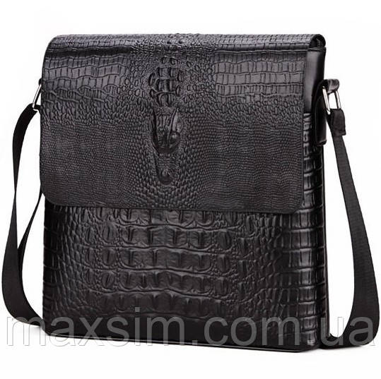 c7121b51b53c Мужская кожаная сумка под кожу крокодила. Сумка-барсетка., цена 470 ...