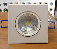 Светильник светодиодный встраиваемый VITO 5W COB квадрат (LED панель) 12, Алюминий, 5, 230, Встраиваемый, 30000, Светильник, Прозрачный, 120, Квадратная, Белый, 3000К (теплый свет)