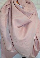 Розовый платок с люрексом в стиле Louis Vuitton Monogram (Луи Витон)