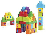 Конструктор для малышей Mega Bloks Буквы 40 деталей первое строительство First Builders DKX58