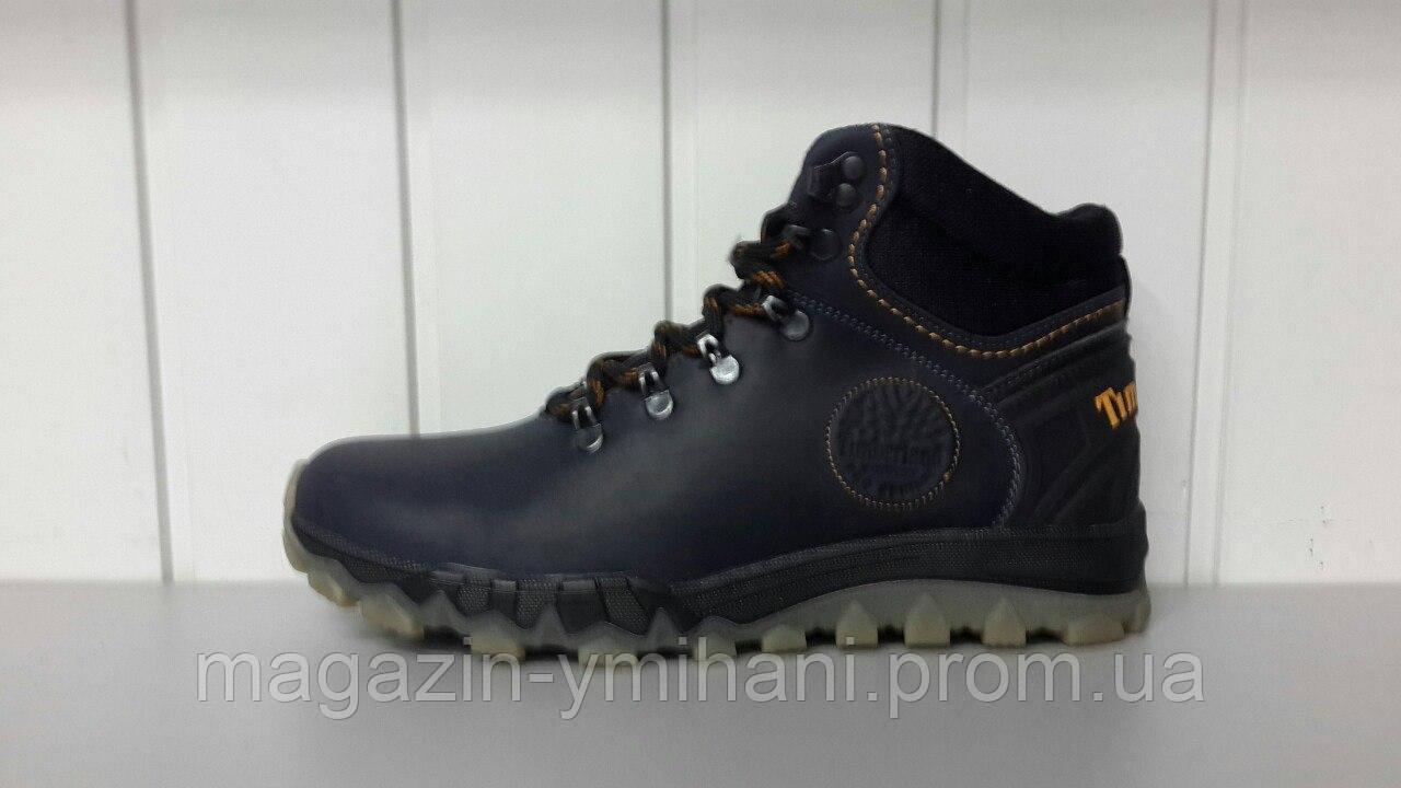 Зимние мужские кожаные черные ботинки Timberland. Харьков  продажа ... e24bd96306e