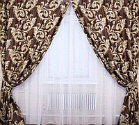 Готовые шторы блэкаут шоколадный