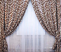 Красивые шторы на окна комплект с подхватами
