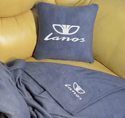 """Автомобильный плед в чехле с логотипом """"Lanos"""" цвет на выбор"""