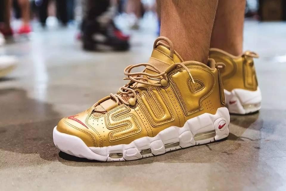 Мужские Кроссовки Nike Air Uptempo Supreme Gold'