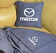 """Автомобільний набір: подушка і плед з логотипом """"Mazda"""" колір на вибір, фото 5"""