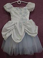 Платье детское нарядное белое с голубым Принцесса на 2-4 года, фото 1