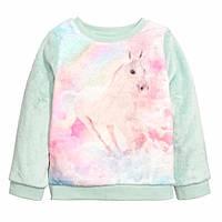 Плюшевый пуловер H&M для модняшки 2-4, 4-6, 6-8, 8-10 Y