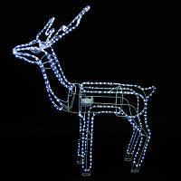 Новогодняя Статуэтка Светодиодный LED Олень 3D Фигура для Атмосферы Нового Года Рождества