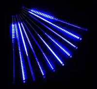 Внутренняя Светодиодная Гирлянда Тающие Сосульки LED 30 см Бегущая Капля Синие 8 шт
