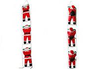 Новогодняя Игрушка Подвесные Santa Claus Декор для ДомаСанта Клаусыс Мешком Лезут по Лестнице 30 см