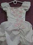 Платье детское нарядное белое с розовым Принцесса на 2-4 года, фото 2