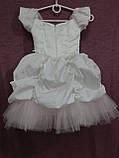 Платье детское нарядное белое с розовым Принцесса на 2-4 года, фото 3