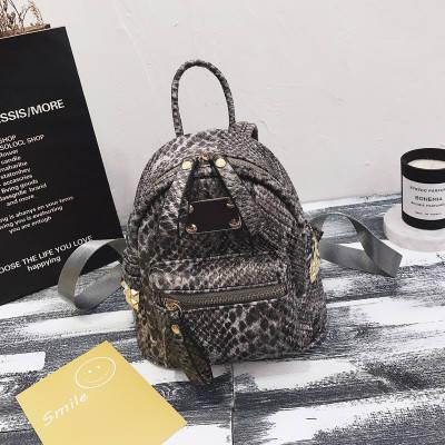 Рюкзак женский Крокодиловая кожа мини, фото 2