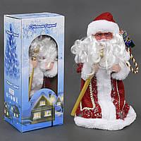 Игрушка Дед Мороз под елку 30 см музыкальный, озвучивание на русском, в коробке. 23468