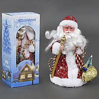 Игрушка Дед Мороз под елку 30 см музыкальный, озвучивание на русском, в коробке. 23469