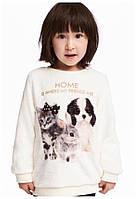 Плюшевый пуловер H&M 1.5-2, 2-4