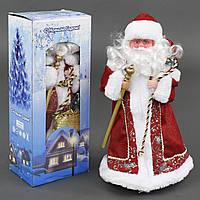 Игрушка Дед Мороз под елку 39 см музыкальный, озвучивание на русском, в коробке. 23470