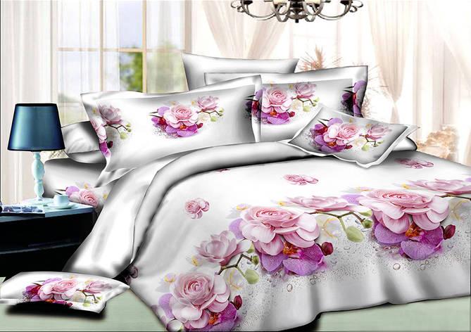 Двуспальный комплект постельного белья евро 200*220 хлопок  (8464) TM KRISPOL Украина, фото 2