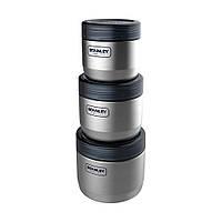 Набор пищевых контейнеров Stanley Adventure (0.41 л, 0.65 л, 0.95 л) стальной