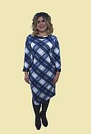 """Платье """"Клетка"""" , размеры 54-62. Модель №060"""