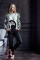 Пижама теплая женская LHS 817 Key XS, цветной принт
