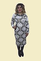 """Красивое теплое платье  """"Узор"""", р. 54-62. Модель № 067"""