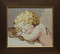 Вышитая картина - Спящий Купидон