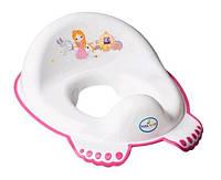 Накладка на унітаз антиковзаюча пластик tega білий Little Princess