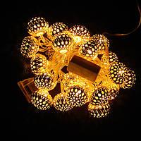 Гирлянда Сфера Золото LED 20 (106)