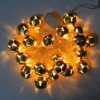 Гирлянда Сфера Золото LED 20 (100а)