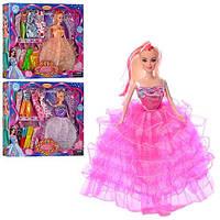 Кукла с нарядом B386-2  27см, платье 10шт, микс видов, в кор-ке, 38-33-5,5см