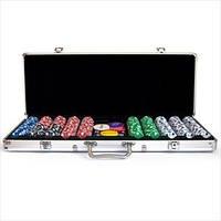 Покерный набор на 500 фишек без номинала в алюминиевом кейсе