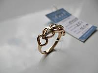 Золотое кольцо Прикосновение СЕРДЕЦ - 2.5 грамма 16 размер