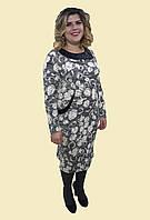 """Теплое нарядное платье """" Круги"""" , р. 54-62. Модель № 066"""